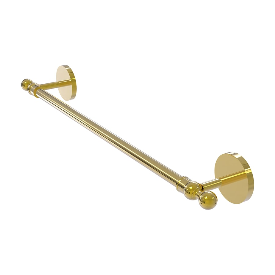 Allied Brass Skyline Polished Brass Single Towel Bar (Common: 30-in; Actual: 32.8-in)