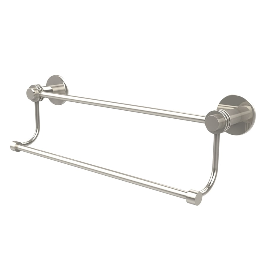 Allied Brass Mercury Polished Nickel Double Towel Bar (Common: 30-in; Actual:)