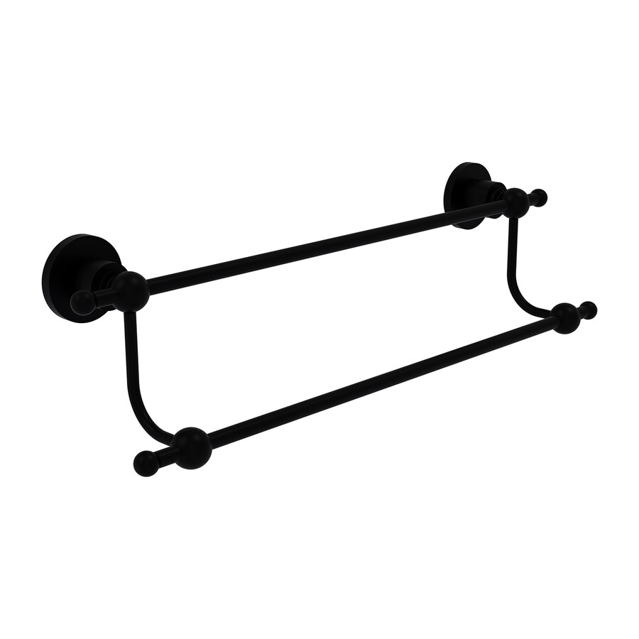 Allied Brass Astor Place Matte Black Double Towel Bar (Common: 18-in Double; Actual: 23.2-in)
