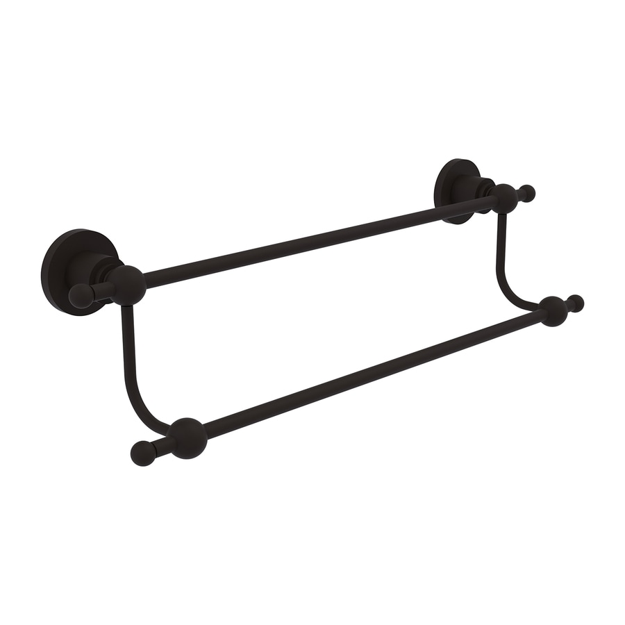 Allied Brass Astor Place Oil-Rubbed Bronze Double Towel Bar (Common: 18-in Double; Actual: 23.2-in)