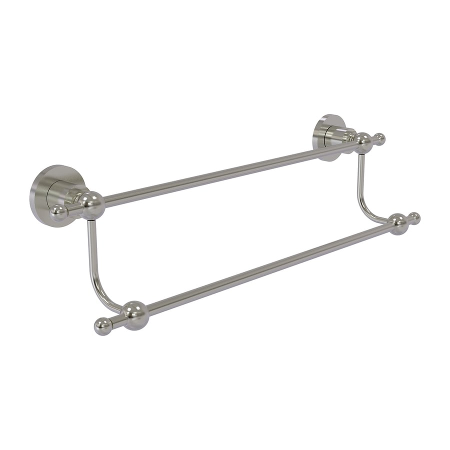 Allied Brass Astor Place Satin Nickel Double Towel Bar (Common: 18-in Double; Actual: 23.2-in)