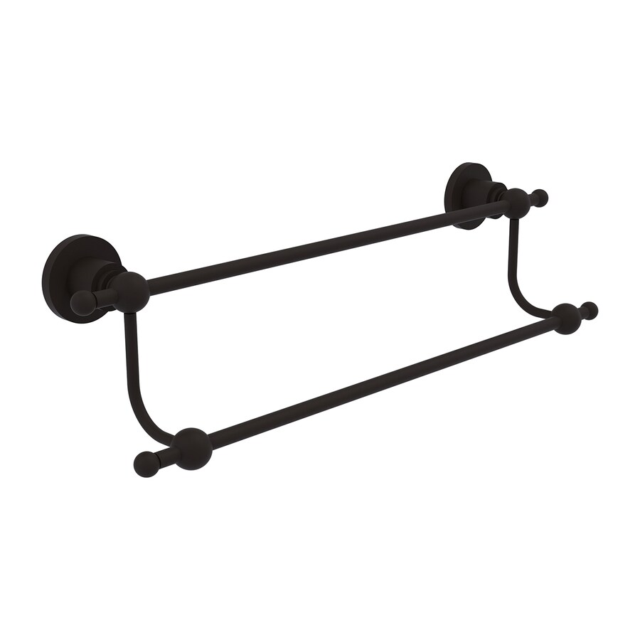 Allied Brass Astor Place Oil-Rubbed Bronze Double Towel Bar (Common: 30-in; Actual: 35.2-in)