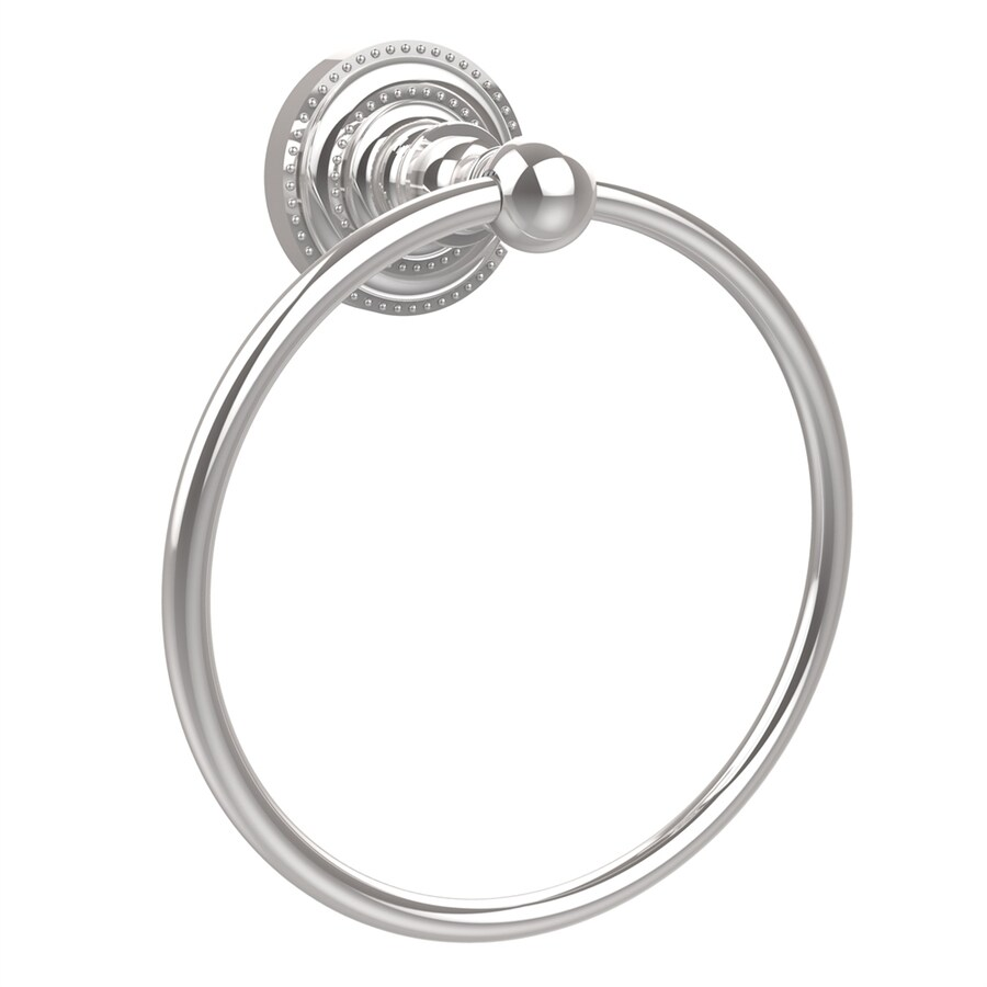 Allied Brass Dottingham Polished Chrome Wall-Mount Towel Ring