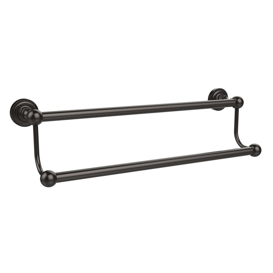 Allied Brass Dottingham Oil-Rubbed Bronze Double Towel Bar (Common: 30-in Double; Actual: 32.2-in)