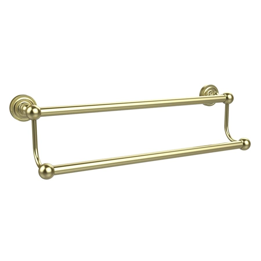 Allied Brass Dottingham Satin Brass Double Towel Bar (Common: 36-in; Actual: 38.2-in)