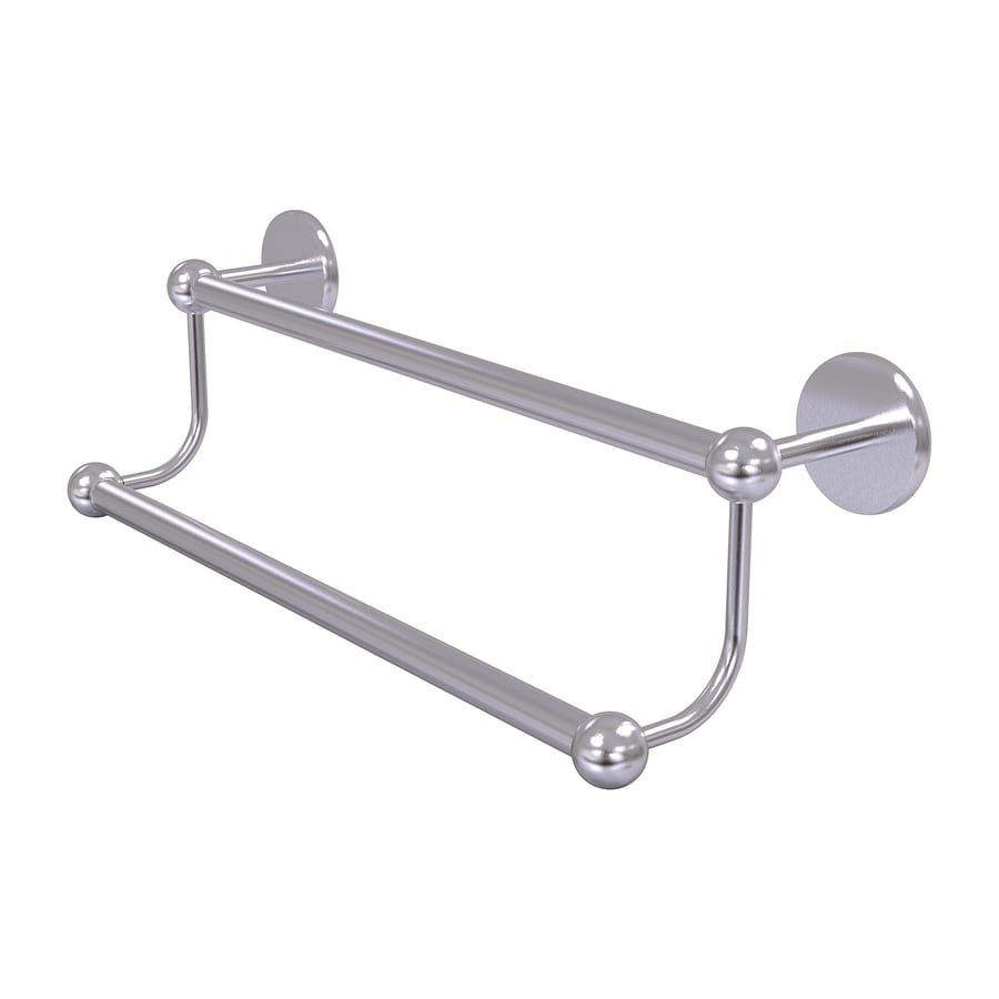 Allied Brass Prestige Skyline Satin Chrome Double Towel Bar (Common: 18-in Double; Actual: 20.8-in)