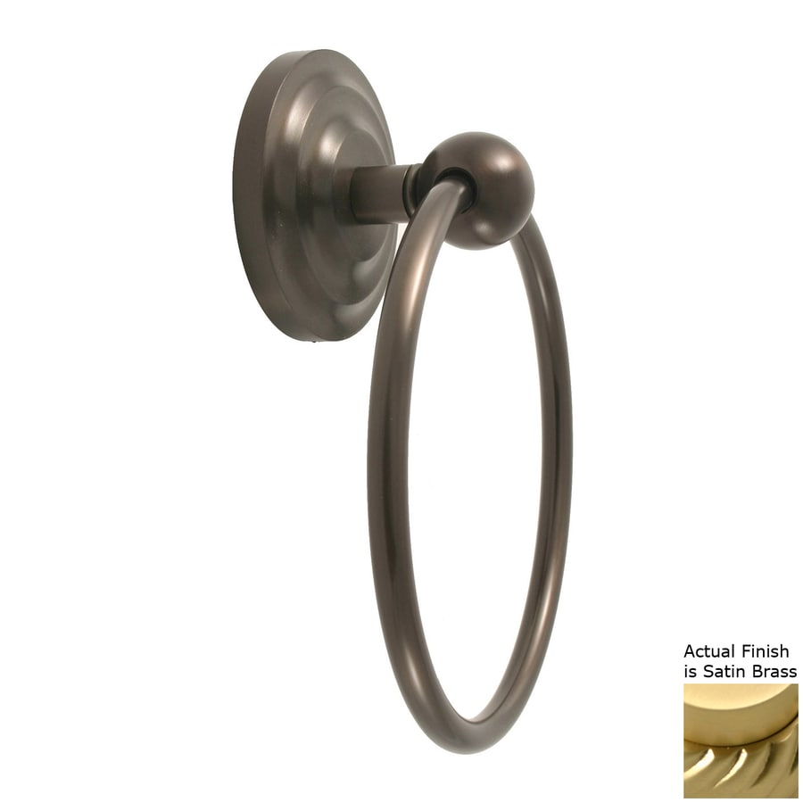Allied Brass Prestige Que-New Satin Brass Wall-Mount Towel Ring