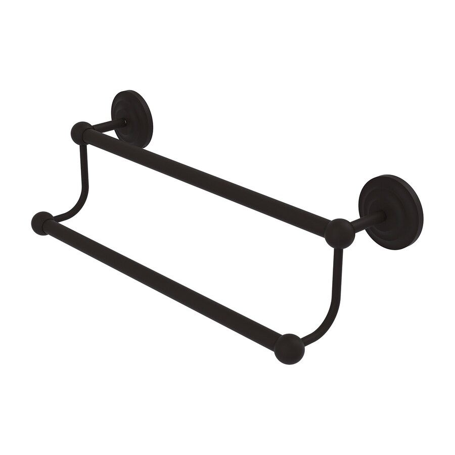 Allied Brass Prestige Que New Oil-Rubbed Bronze Double Towel Bar (Common: 18-in Double; Actual: 21.2-in)
