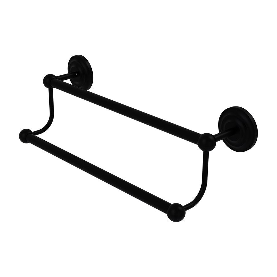 Allied Brass Prestige Que-New Matte Black Double Towel Bar