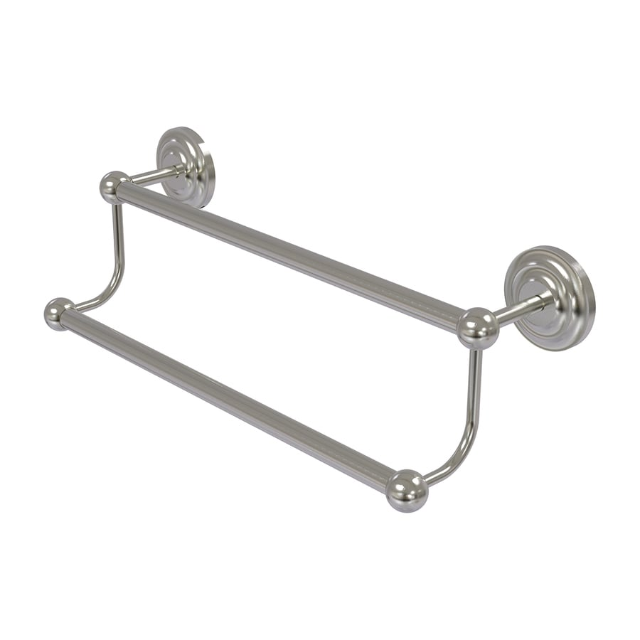 Allied Brass Prestige Que New Satin Nickel Double Towel Bar (Common: 30-in; Actual: 33.2-in)