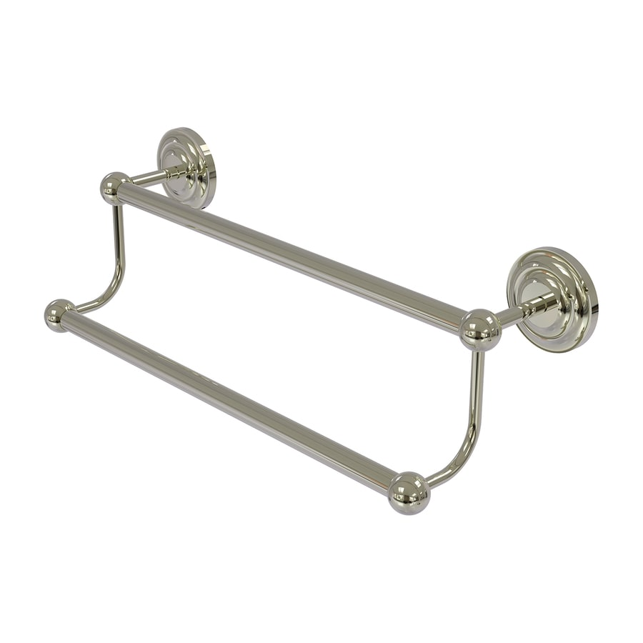 Allied Brass Prestige Que New Polished Nickel Double Towel Bar (Common: 36-in Double; Actual: 39.2-in)