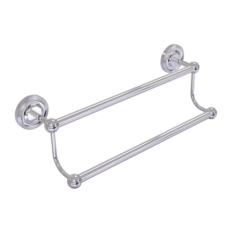 Allied Brass Prestige Regal Polished Chrome Double Towel Bar (Common: 36-in Double; Actual: 39.1-in)