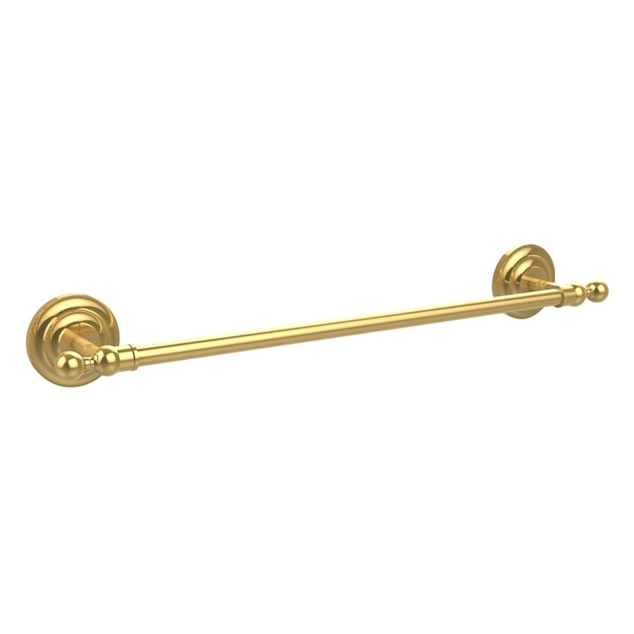 Allied Brass Que New Polished Brass Single Towel Bar (Common: 24-in; Actual: 27.2-in)