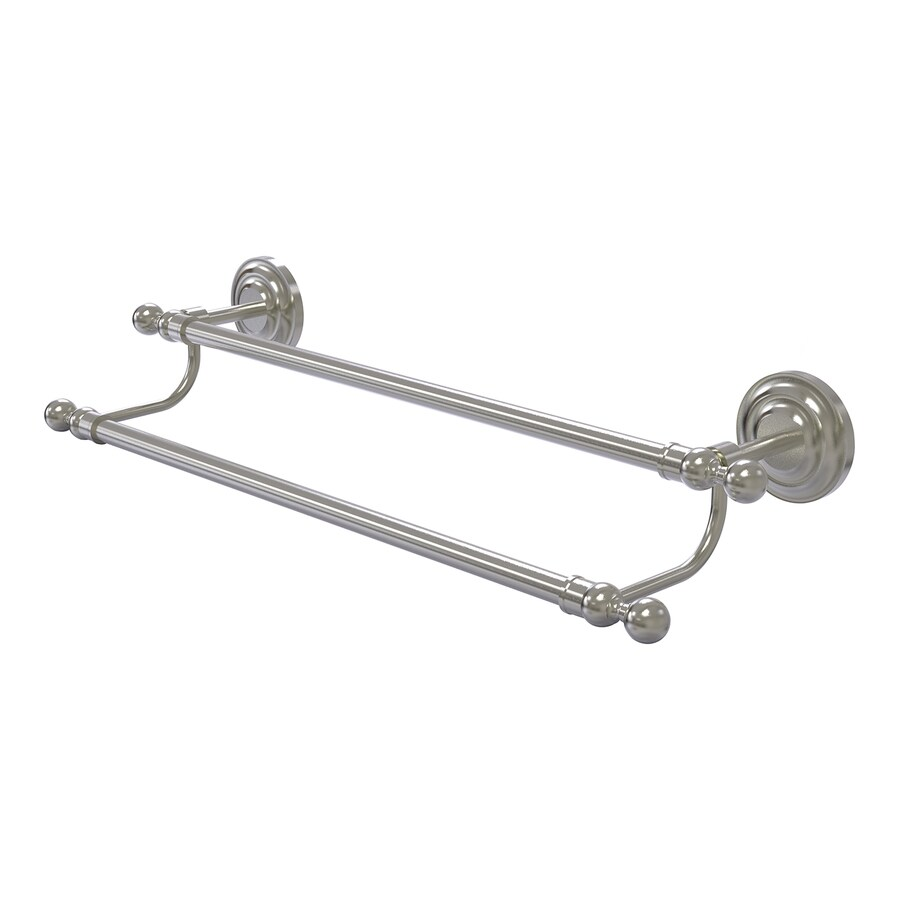Allied Brass Que New Satin Nickel Double Towel Bar