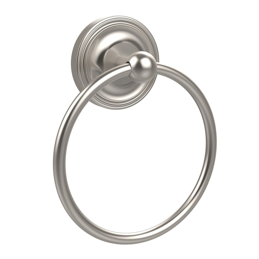 Allied Brass Regal Satin Nickel Wall-Mount Towel Ring