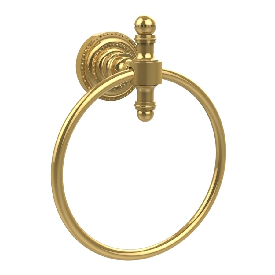 Allied Brass Retro-Dot Polished Brass Wall-Mount Towel Ring