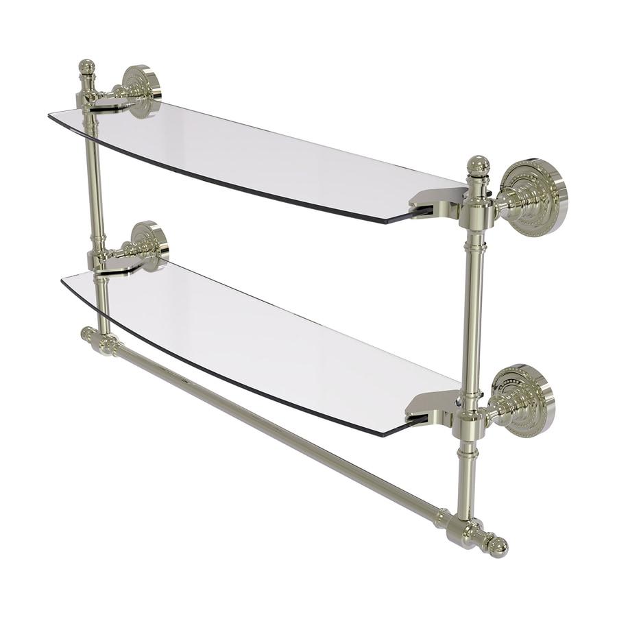 Allied Brass Retro-Dot 2-Tier Polished Nickel Brass Bathroom Shelf