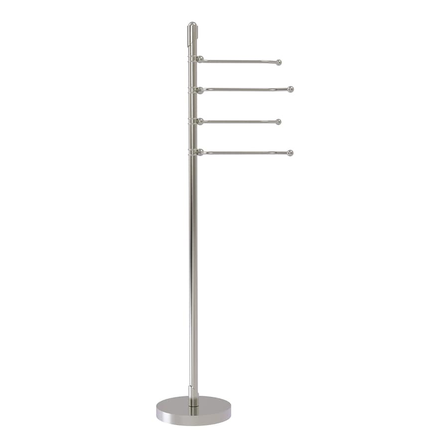 Allied Brass Soho Satin Nickel Rack Towel Bar (Common: 12-in; Actual: 12-in)