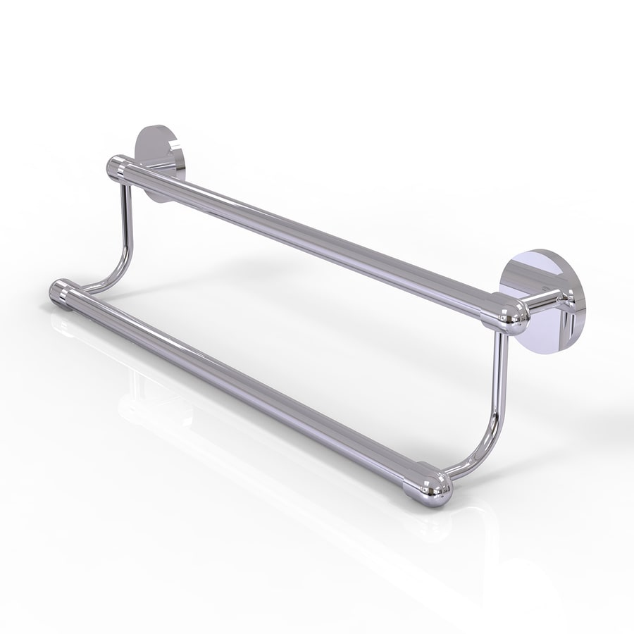 Allied Brass Tango Polished Chrome Double Towel Bar (Common: 18-in Double; Actual: 20.8-in)