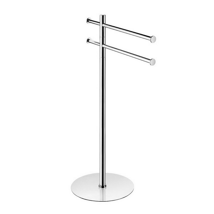 WS Bath Collections Kubic Cool Polished Chrome Rack Towel Bar (Common: 10-in; Actual: 15-in)