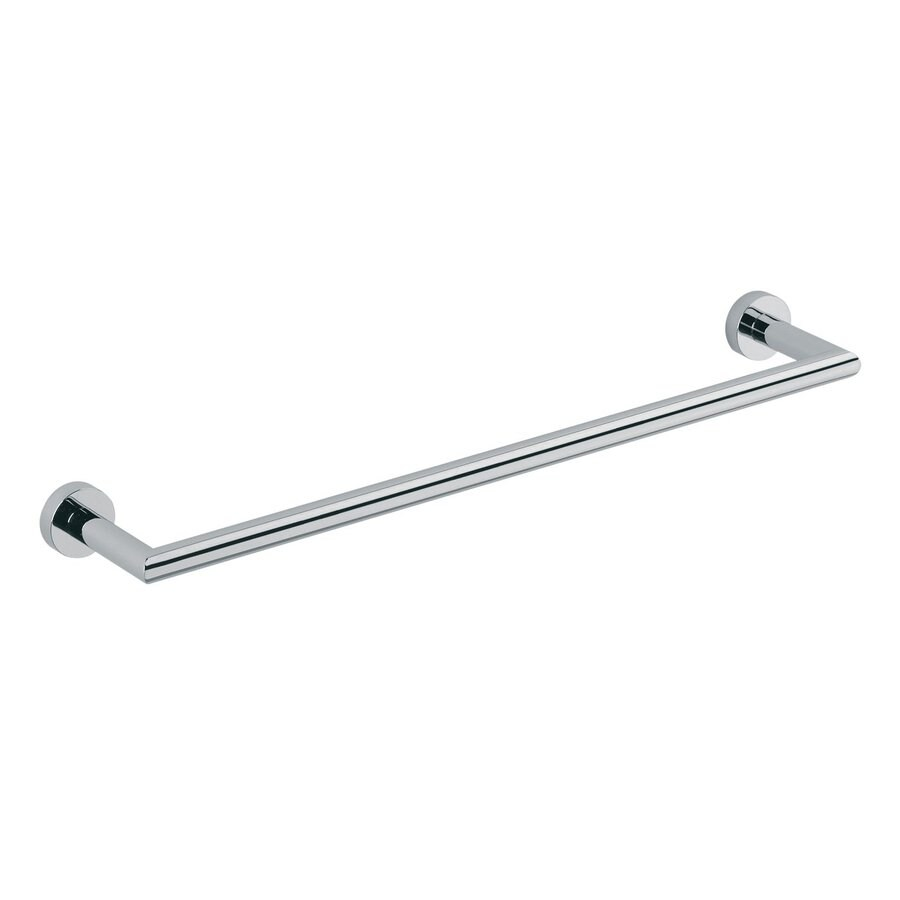 WS Bath Collections Baketo Polished Chrome Single Towel Bar (Common: 14-in; Actual: 15.7-in)