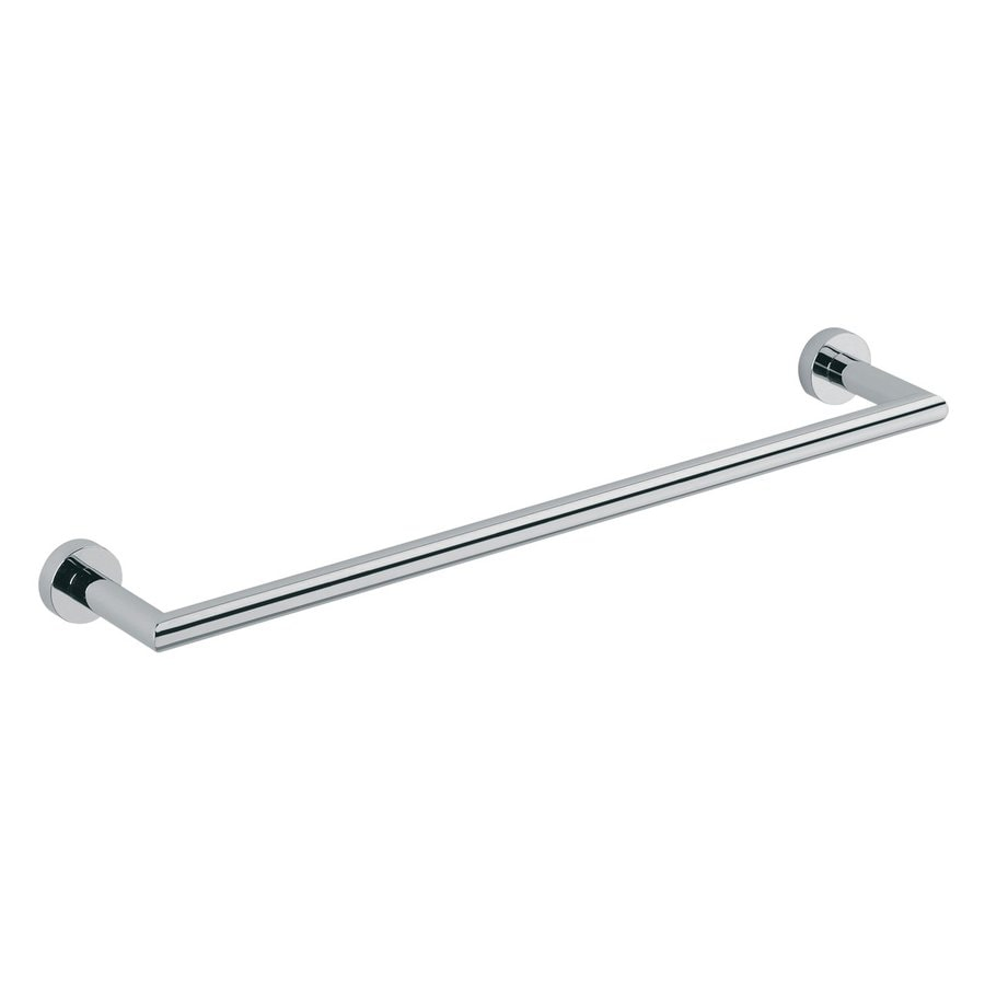 WS Bath Collections Baketo Polished Chrome Single Towel Bar (Common: 22-in; Actual: 23.6-in)