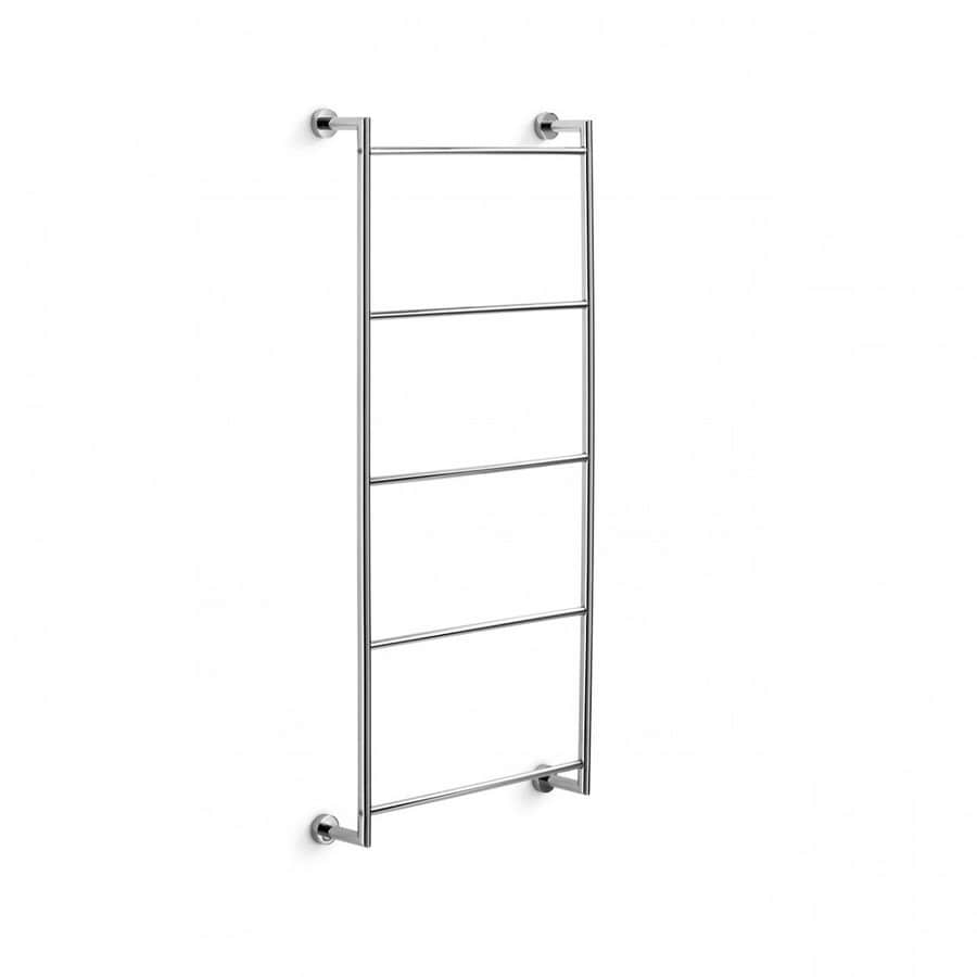 WS Bath Collections Baketo Polished Chrome Rack Towel Bar (Common: 15-in; Actual: 17.3-in)