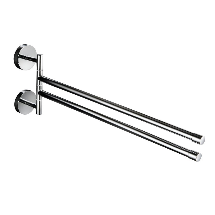 WS Bath Collections Duemila Polished Chrome Double Towel Bar (Common: 11-in; Actual: 13.5-in)