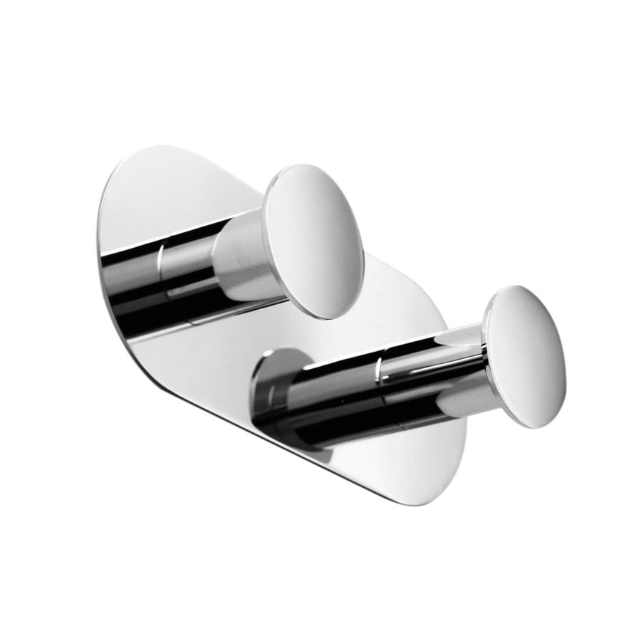 WS Bath Collections Napie 2-Hook Polished Chrome Robe Hook