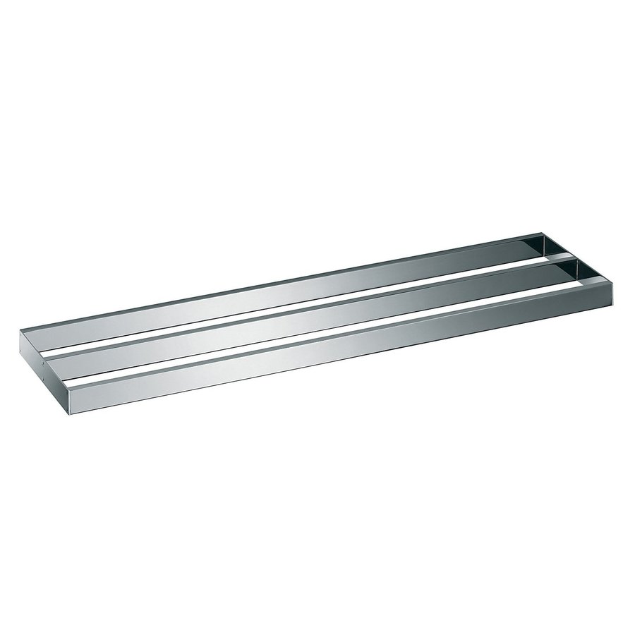 WS Bath Collections Skuara Polished Chrome Double Towel Bar (Common: 22-in; Actual: 23.6-in)