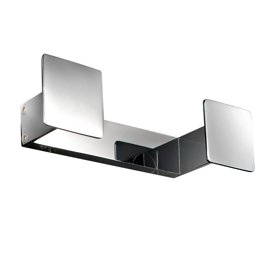 WS Bath Collections Skuara 2-Hook Polished Chrome Towel Hook