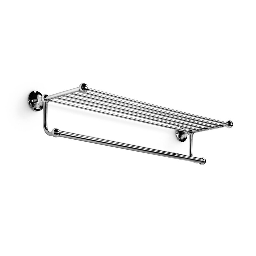 WS Bath Collections Venessia Polished Chrome Rack Towel Bar (Common: 24-in; Actual: 25.6-in)