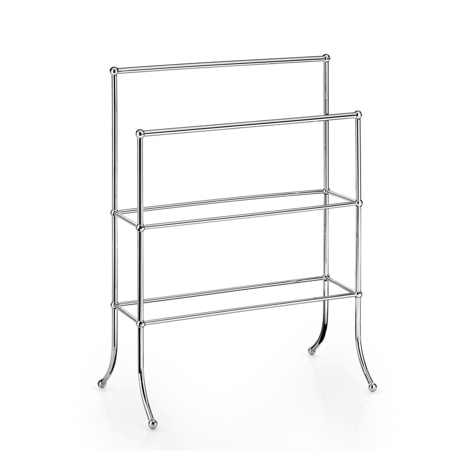 WS Bath Collections Venessia Polished Chrome Rack Towel Bar (Common: 24-in; Actual: 26.6-in)