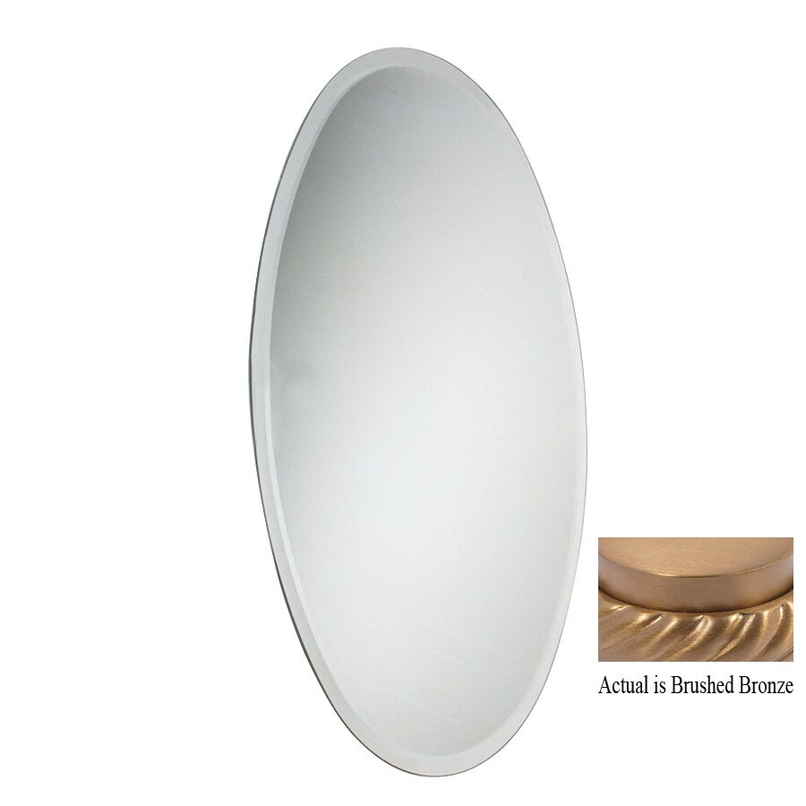 Allied Brass 9-7/8-in H x 21-in W Rectangular Frameless Bath Mirror with Beveled Edges