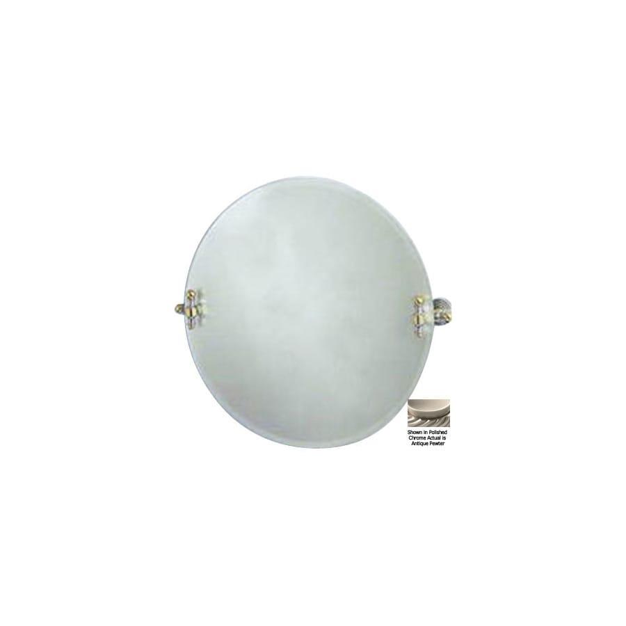 Allied Brass 22-in H x 22-in W Retro-Wave Round Frameless Bath Mirror with Beveled Edges