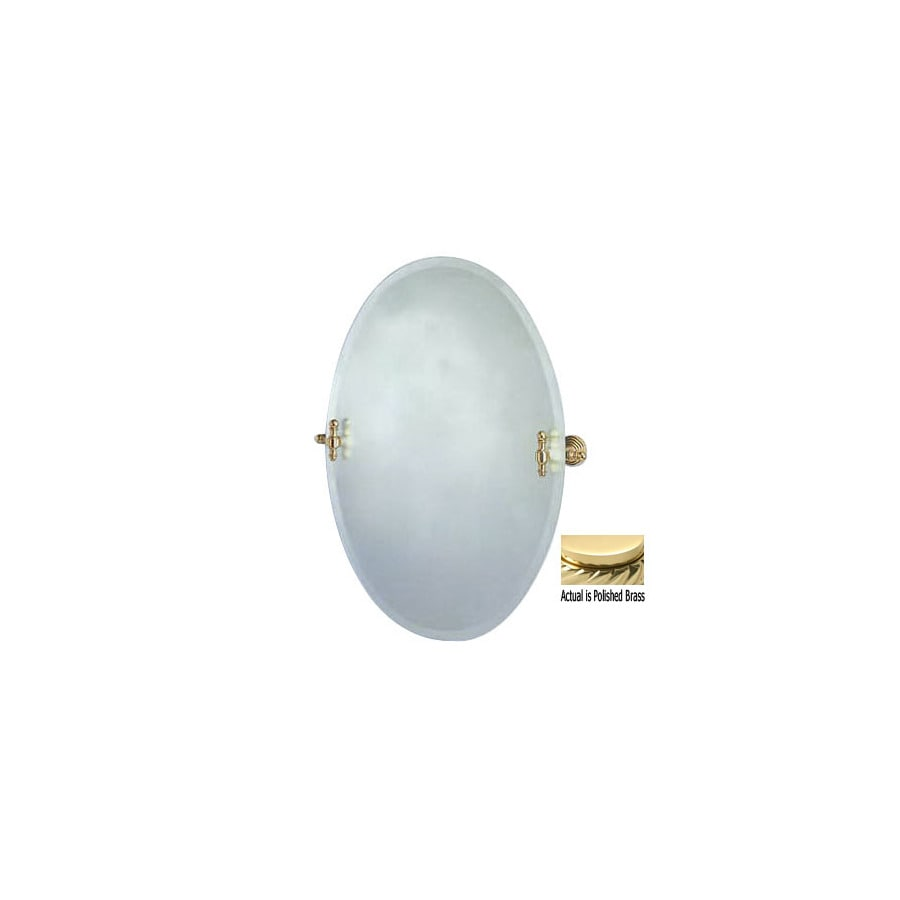 Allied Brass 29-in H x 21-in W Retro-Wave Oval Frameless Bath Mirror with Beveled Edges