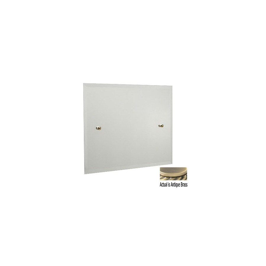 Allied Brass 21-in H x 26-in W Waverly Place Rectangular Frameless Bath Mirror with Beveled Edges