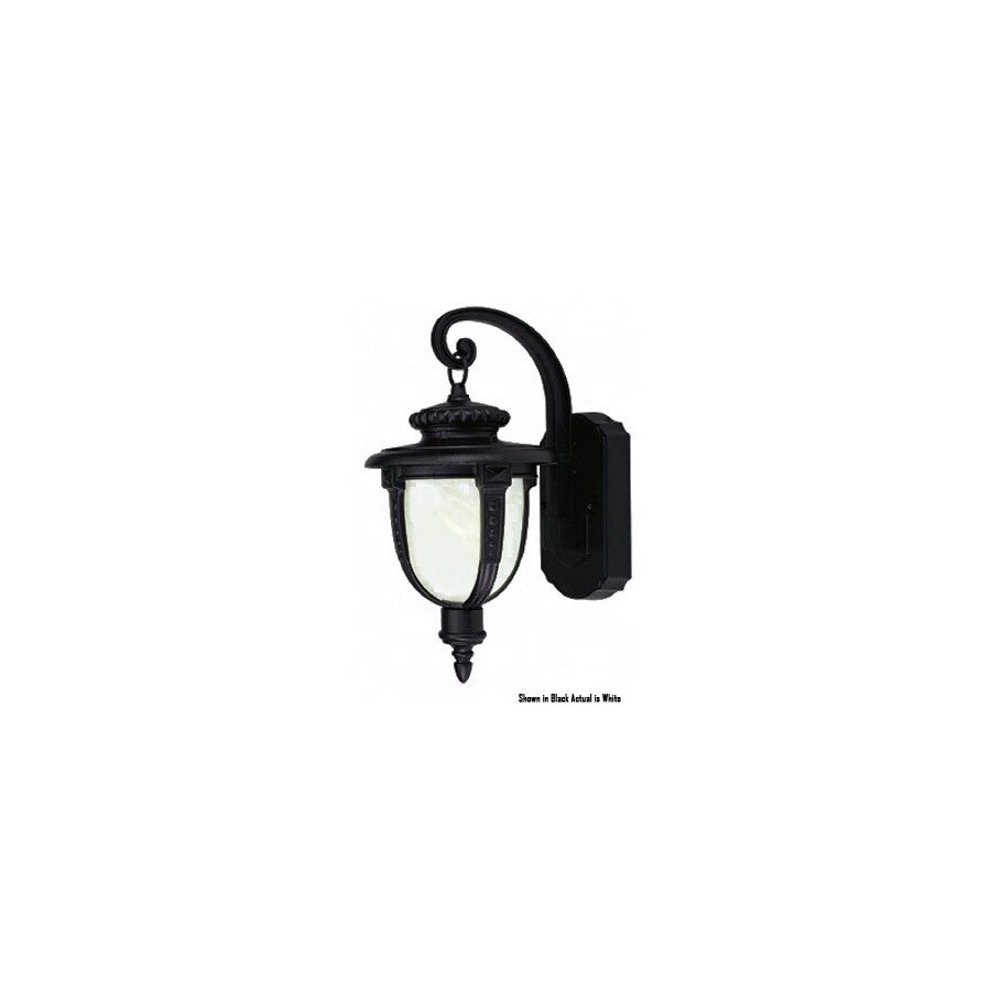 Livex Lighting 14-in White Outdoor Wall Light ENERGY STAR