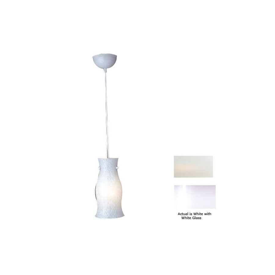 White PLC Lighting 1500 WH Febo-I Mini Pendant Light