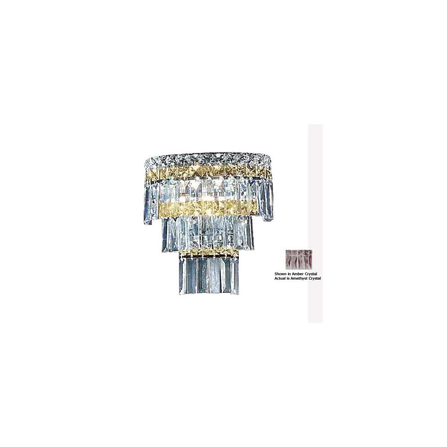 Classic Lighting 10-in W Sofia 2-Light Chrome Crystal Pocket Wall Sconce