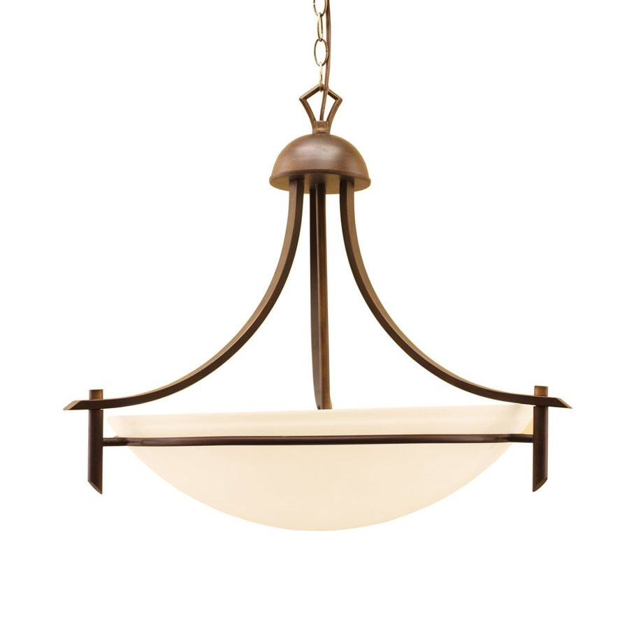 Whitfield Lighting Kelsey 18-in Oil-Rubbed Bronze Mediterranean Bowl Pendant