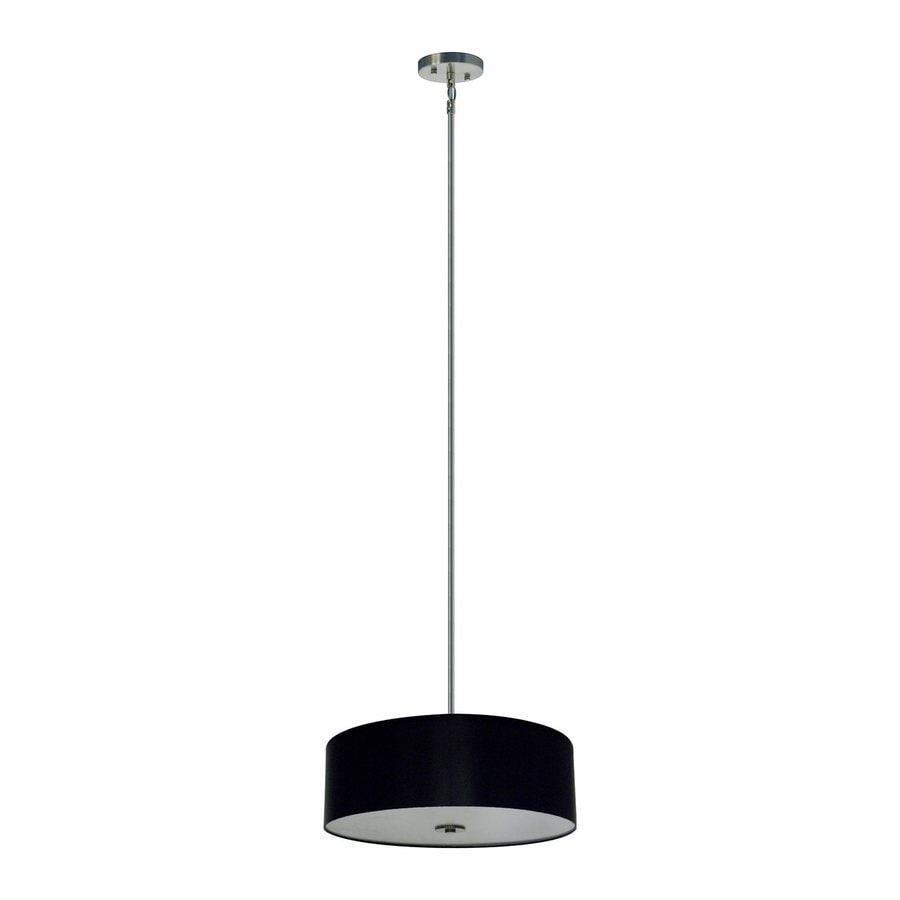 Whitfield Lighting Modena 22-in Satin Steel Drum Pendant