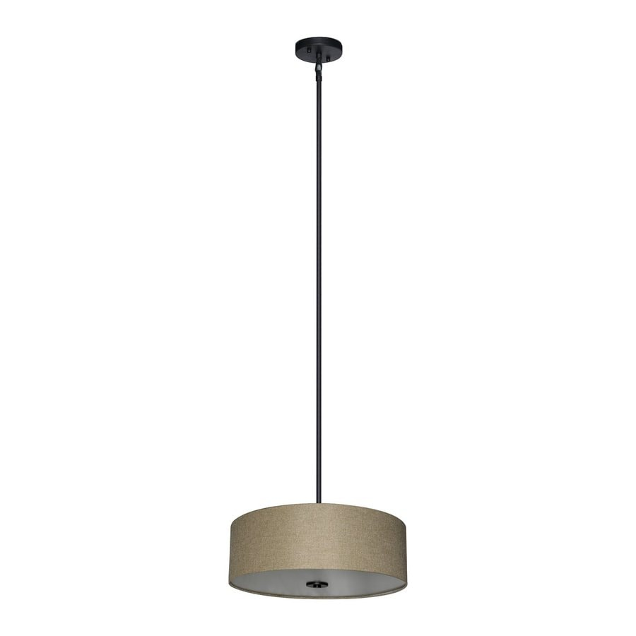 Whitfield Lighting Modena 22-in Ebony Bronze Drum Pendant