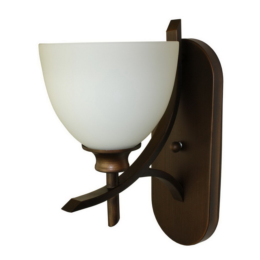 Whitfield Lighting Kelsey 7-in W 1-Light Oil-Rubbed Bronze Arm Hardwired Wall Sconce