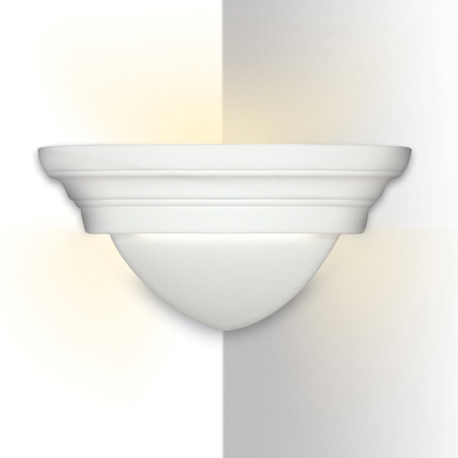 A-19 Islands Of Light Majorca 11.5-in W 1-Light Unfinished Bisque Pocket Hardwired Wall Sconce