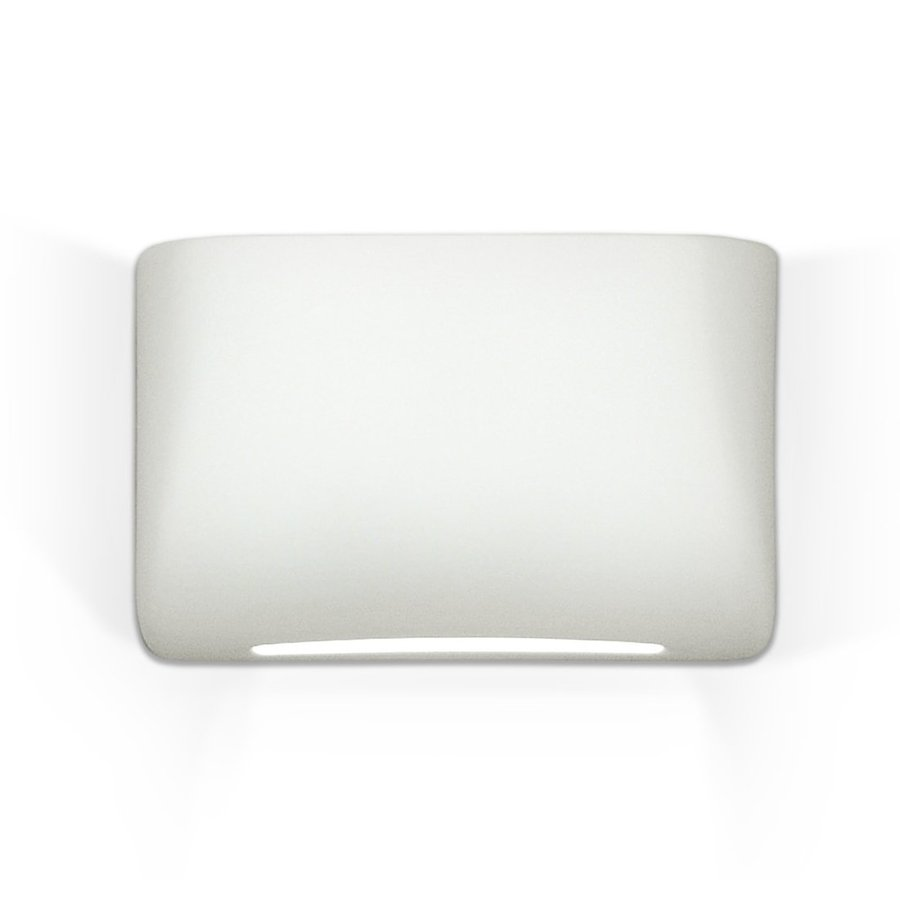 A-19 Islands Of Light Coronado 7.75-in W 1-Light Unfinished Bisque Pocket Hardwired Wall Sconce