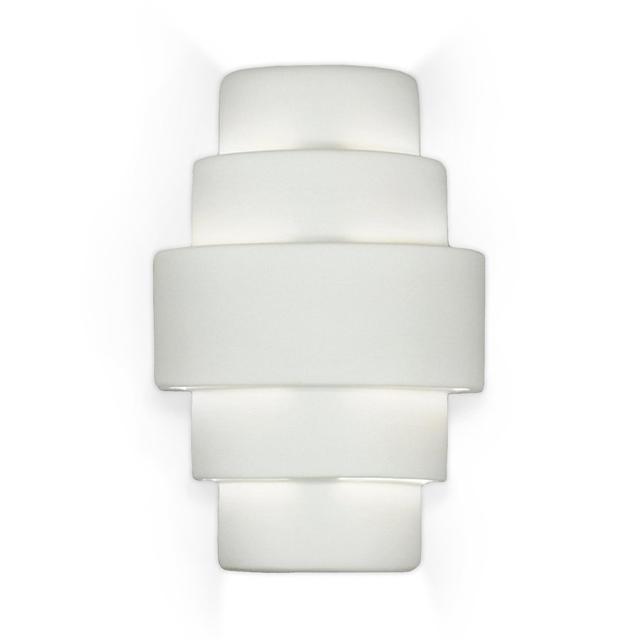 A-19 Islands Of Light Marcos 9.75-in W 1-Light Unfinished Bisque Pocket Hardwired Wall Sconce