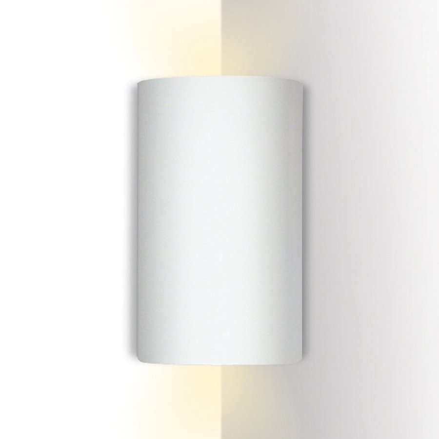 A-19 Islands Of Light Tenos 5.25-in W 1-Light Unfinished Bisque Pocket Hardwired Wall Sconce