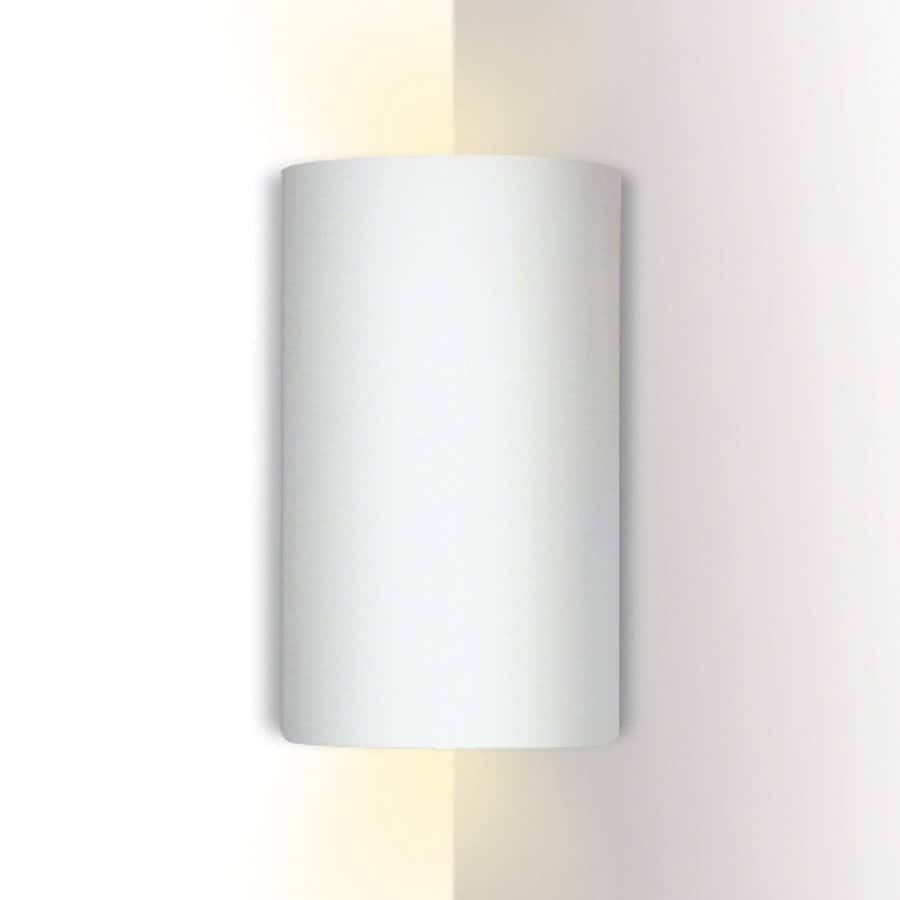 A-19 Islands Of Light Tenos 5.25-in W 1-Light Bisque- Unfinished Pocket Wall Sconce