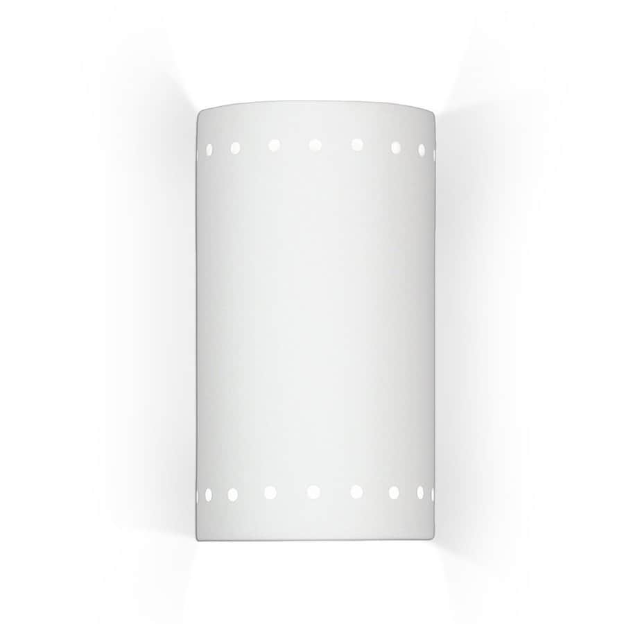 A-19 Islands of Light Melos 5.25-in W 1-Light Bisque- unfinished Pocket Wall Sconce
